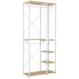 Argos Home Double 2 Rail 4 Shelf Wardrobe - White