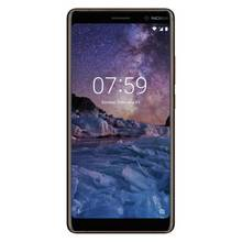 Sim Free Nokia 7 Plus Mobile Phone - Black/ Copper