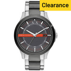Armani Exchange Men's Hampton Two Tone Stainless Steel Watch