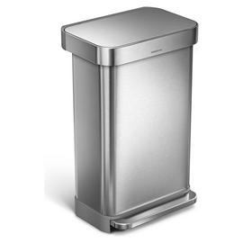 simplehuman 45 Litre Pocketed Bin - Brushed Stainless Steel