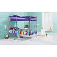 Argos Home Samuel Bunk Bed with Mattress - Silver