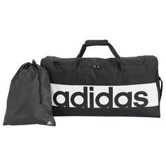 09858e265167 Adidas Linear Large Holdall and Gym Sack - Black
