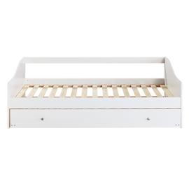 Argos Home Brooklyn White Day Bed, Trundle & Kids Mattress