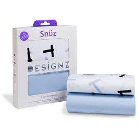 Snuz Crib 2 Pack of Fitted Sheets - Geo Breeze