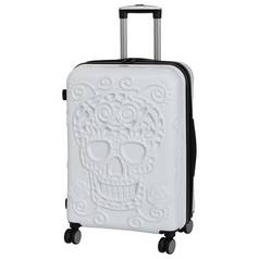 IT Luggage Skulls Medium 8 Wheel Suitcase - White
