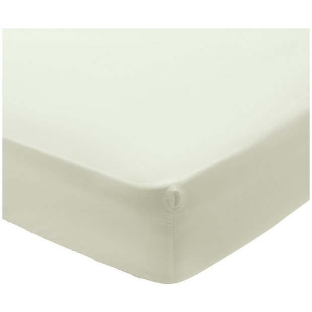 Buy Argos Home 400 Tc Ivory Deep Fitted Sheet Kingsize Bed