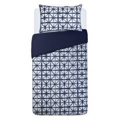 Argos Home Shibori Tile Bedding Set - Single