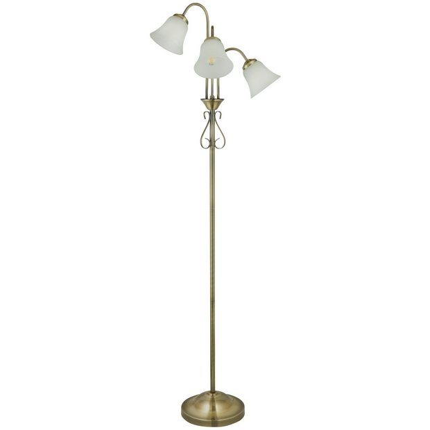 Buy Argos Home Elisa 3 Light Floor Lamp Antique Brass Floor Lamps Argos