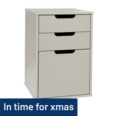 Argos Home 3 Drawer Filing Cabinet - Grey