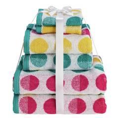 Argos Home 6 Piece Towel Bale - Spots 728c2251c