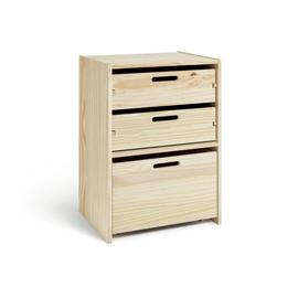 Argos Home Rico Single Storage Unit - Pine