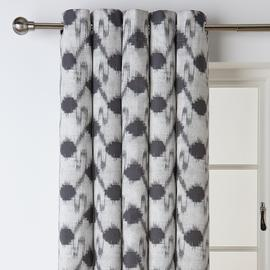 Argos Home Ikat Fully Lined Eyelet Curtains