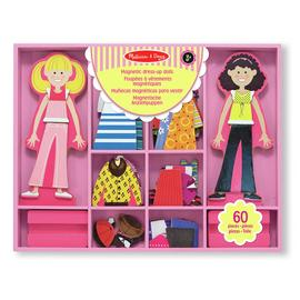 Melissa & Doug Abby and Emma Magnetic Wooden Dress Up