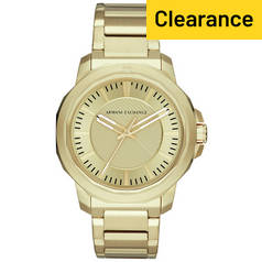 Armani Exchange Men's Ryder Gold Plated Steel Watch