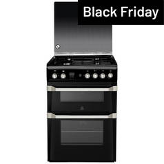 Indesit ID60G2K Gas Cooker - Black