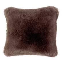 Argos Home Premium Faux Fur Cushion - Brown