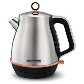 Morphy Richards 104416 Evoke Jug Kettle - Steel & Rose Gold
