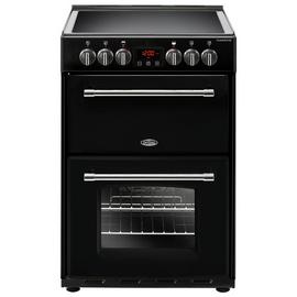 Belling Farmhouse 60E 60cm Electric Range Cooker - Black Best Price, Cheapest Prices