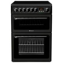 Hotpoint HAE60K Double Freestanding Electric Cooker - Black
