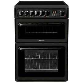 Hotpoint HAE60K 60cm Double Oven Electric Cooker - Black