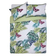 Argos Home Palmhouse Leaf Butterfly Bedding Set - Superking