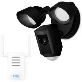 Ring Floodlight Camera and Chime Pro -  Black