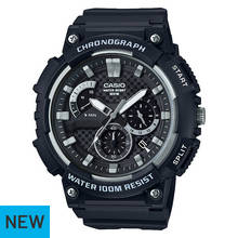 Casio Men's 100m Water Resistant Black Chronograph Watch