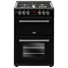 Belling Farmhouse 60DF 60cm Dual Fuel Range Cooker - Black