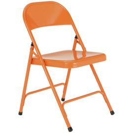 Habitat Macadam Metal Folding Chair - Orange