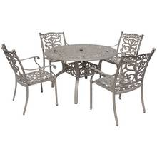 Milan Round 4 Seater Cast Aluminium Patio Set