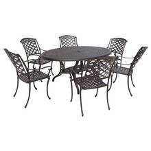 San Remo Oval 6 Seater Cast Aluminum Patio Set
