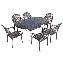 Cadiz Oval 6 Seater Cast Aluminium Patio Set