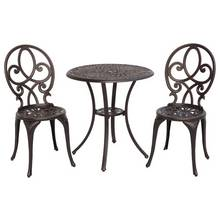 Antique Bronze Cast Aluminium 3 Piece Bistro Set