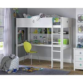 Argos Home Stars High Sleeper Bed, Desk, Shelf & Mattress