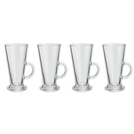 Argos Home Glass Latte Mugs - Set of 4