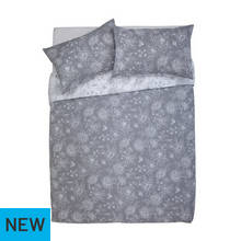 Argos Home Grace Grey Bedding Set - Double
