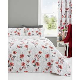 Dreams N Drapes Fliss Red Bedding Set - Double