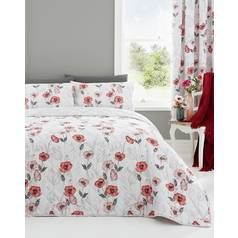 Dreams N Drapes Fliss Red Bedding Set - Superking