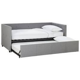 Argos Home Tamara Day Bed with Trundle & 2 Mattresses - Grey