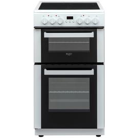 Bush DHBEDC50W 50cm Double Oven Electric Cooker - White