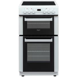 Bush DHBEDC50W 50cm Double Oven Electric Cooker - White Best Price, Cheapest Prices