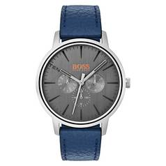 Hugo Boss Orange Copenhagen Men's Blue Leather Strap Watch
