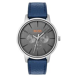 Boss Orange Copenhagen Men's Blue Leather Strap Watch