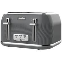 Breville VTT892 Flow 4 Slice Toaster - Grey