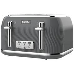 Breville VTT892 Flow 4 Slice Toaster - Grey