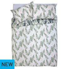 Argos Home Green Fern Print Bedding Set - Kingsize