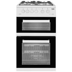 Beko KDG582W Twin Gas Cooker - White