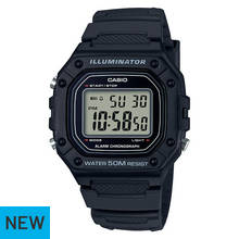 Casio Men's Black Rectangle Dial Digital Illuminator Watch
