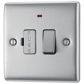 BG Single Switch - Brushed Stainless Steel