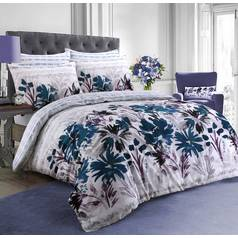 Argos Home Teal Garden Flowers Bedding Set - Superking